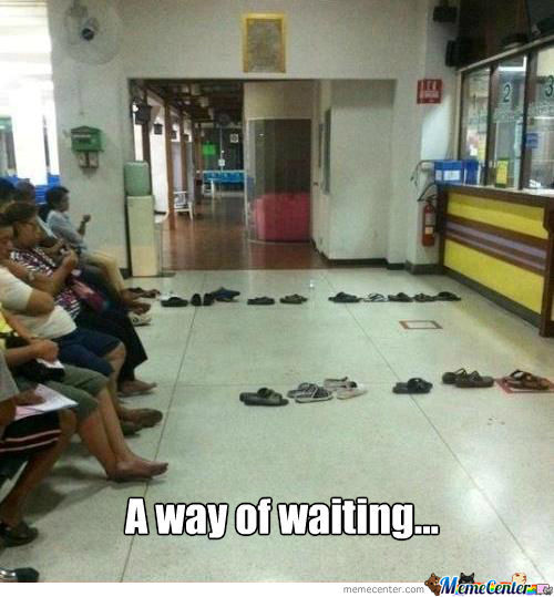 A way of waiting