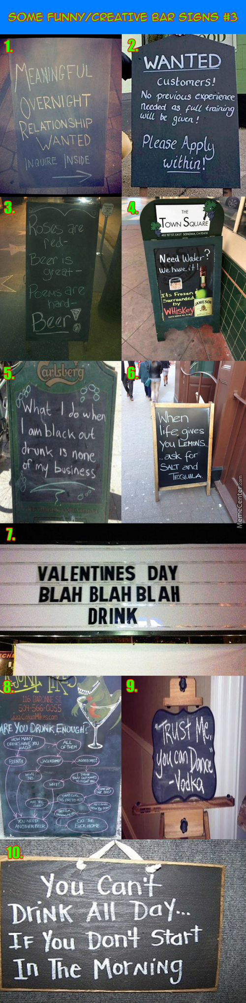 Funny / Creative Bar Signs #3: Just Trust The Vodka And Dance!!