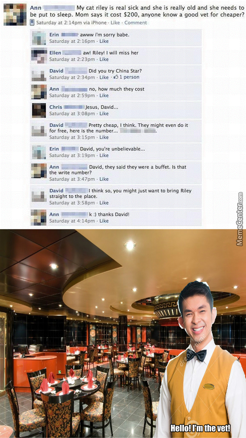 Funny Facebook Post #6 (Curing In Chinese)