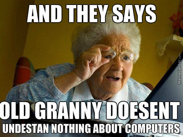 Funny about the grandmother