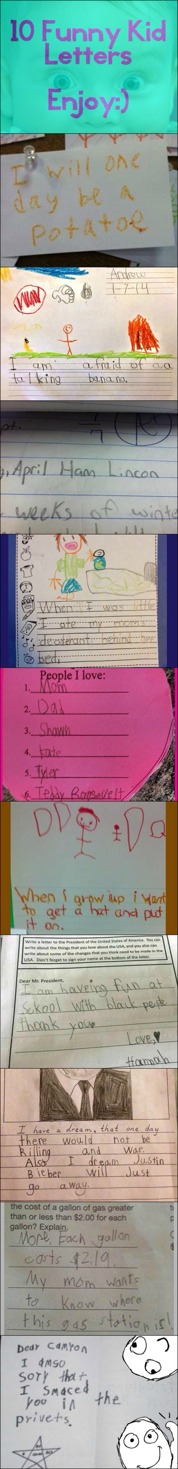 Funny Kid Letters