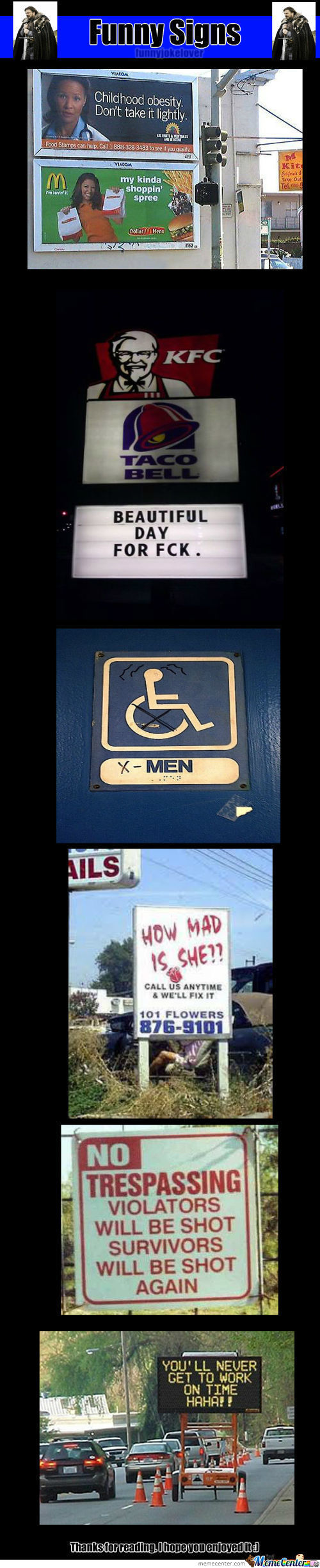Funny Signs... In My Opinion