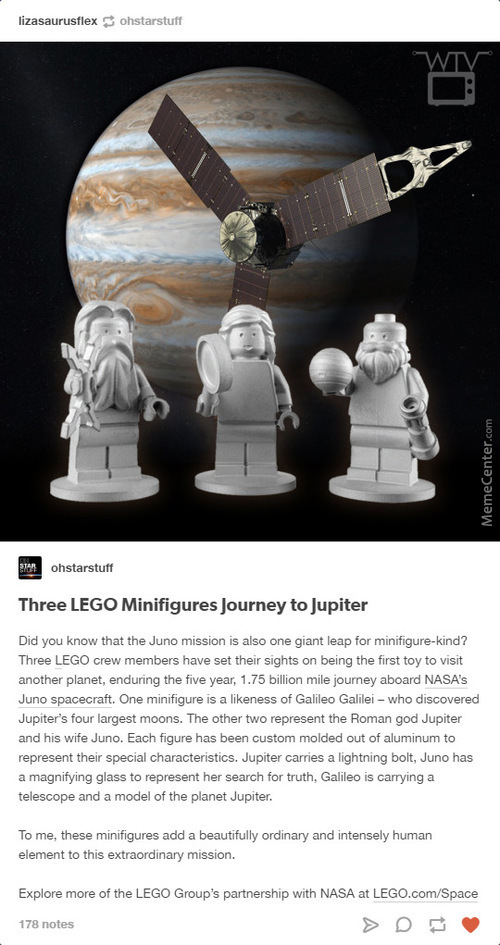 Galileo Figure, Oh? Magnifico! (P.s. Do You Realize This Means That Lego Has Now Traveled Further In Space Than The Human Race?)