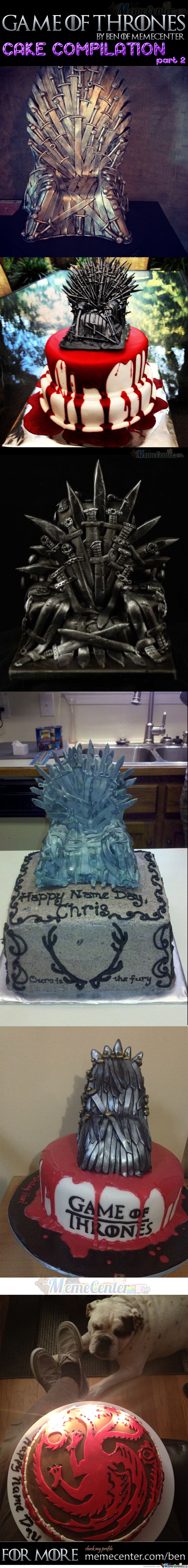 Game Of Thrones Cakes Part 2