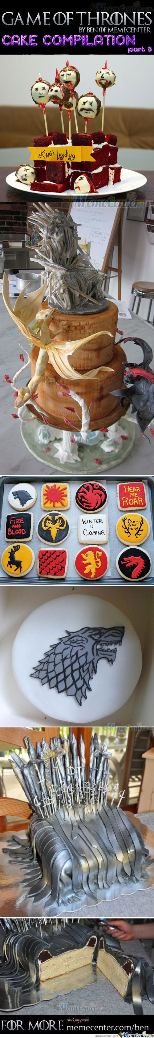 Game Of Thrones Cakes Part 3