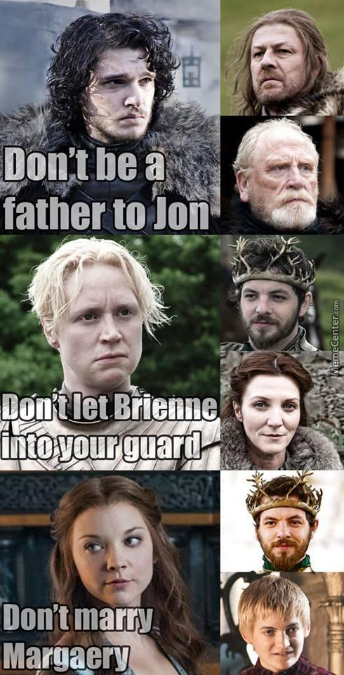 Game Of Thrones Do's And Don'ts..
