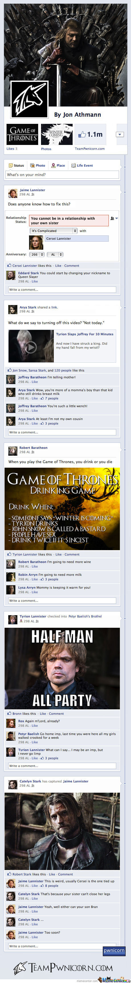 Game Of Thrones On Facebook By Team Pwnicorn