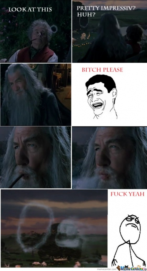 gandalf smoking like a boss