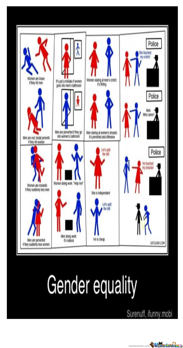 gender equality by taajcrump meme center