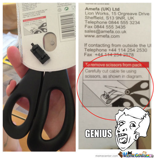 Genius Scissors Packaging