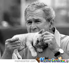 George Bush Eating A Kitten! Tastes Like Chicken!