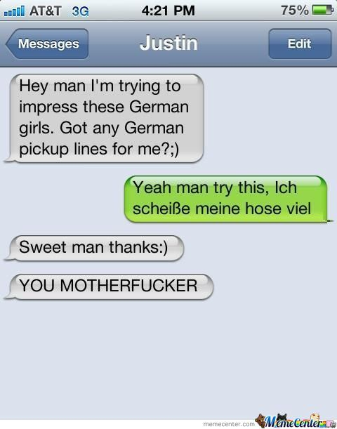 German Pickup Line