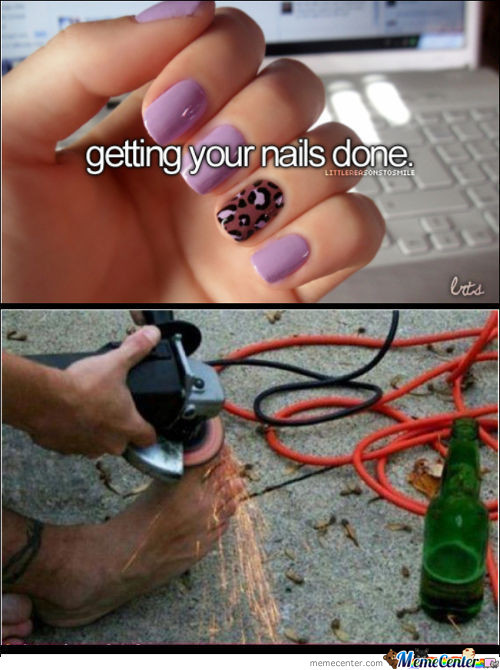 Getting You Nails Done.