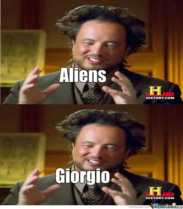 Giorgio Tsoukalos's Reaction To Himself
