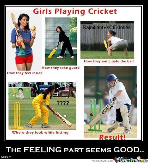 Girls Playing Cricket...