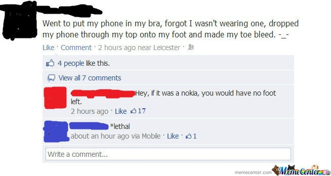 Glad It Wasn't A Nokia...