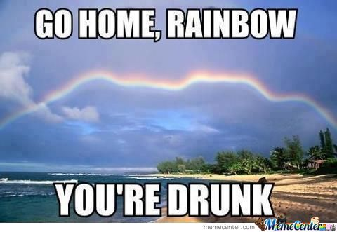 Go Home, Rainbow You're Drunk