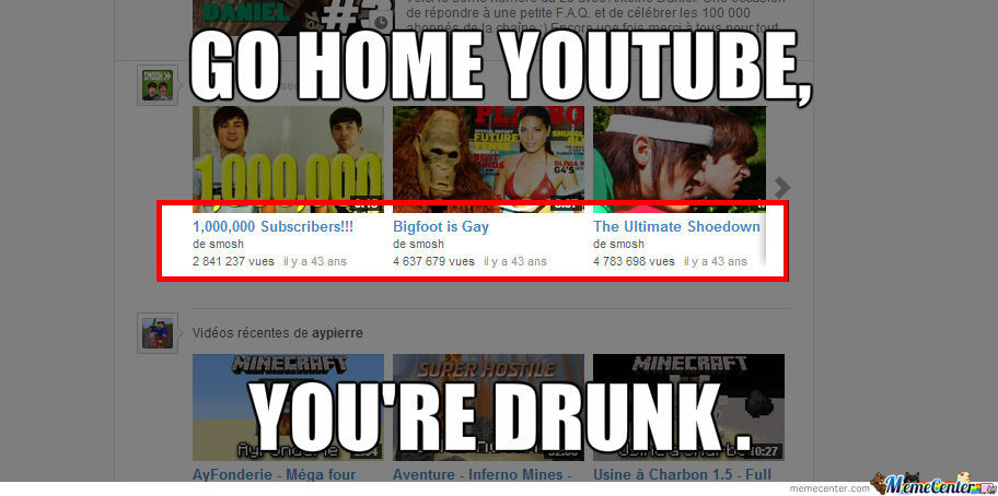 Go Home Youtube...