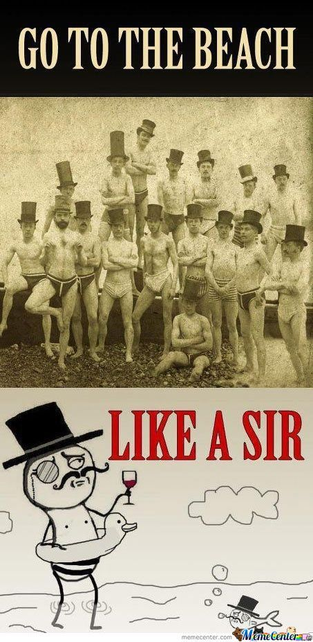 Go To The Beach Like A Sir