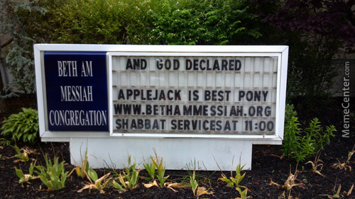 God Declared Applejack Is Best Pony