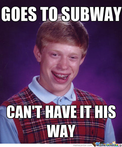 Goes To Subway...