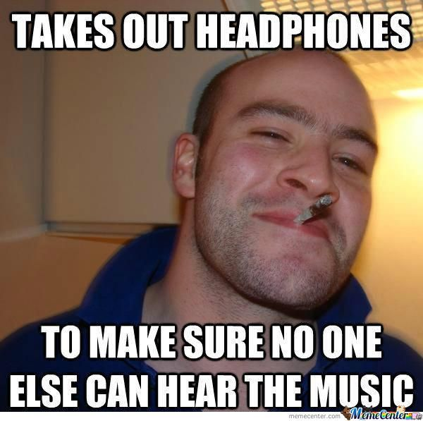 Good Guy Greg Listening To Music In The Public