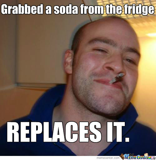 Good Guy Greg Strikes Again.