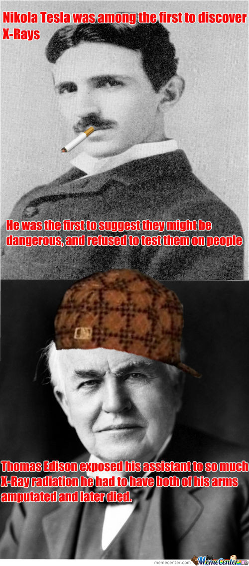 Good Guy Tesla/scumbag Edison