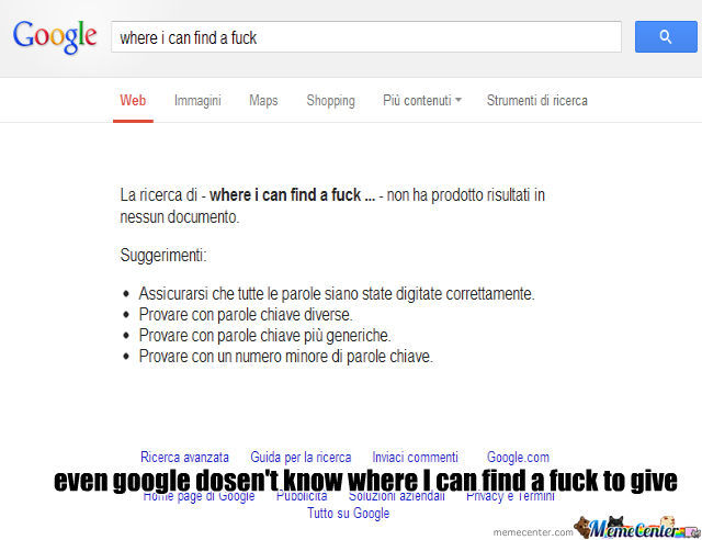 Google Can't Find A Fuck