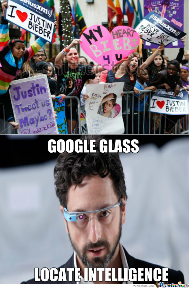 Google Glass Locate Intelligence
