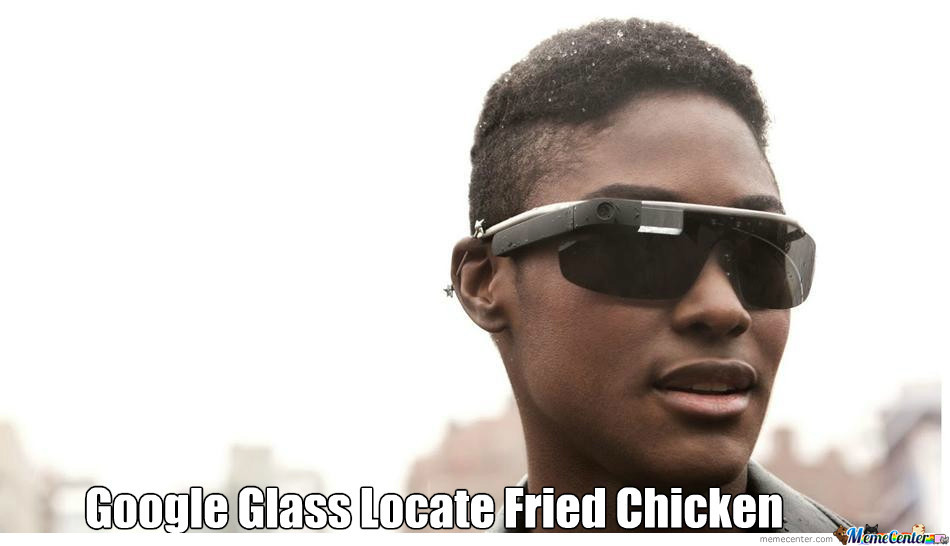 Google Glass Locate Watermelon And Fried Chicken(P.s. Im Not Racist)