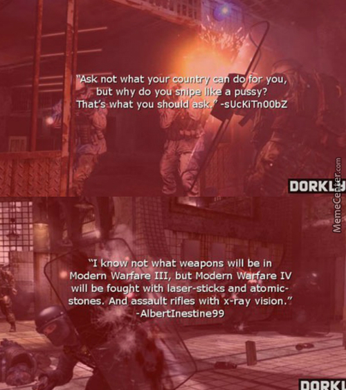 Googled Call Of Duty Quotes Was Not Disappointed
