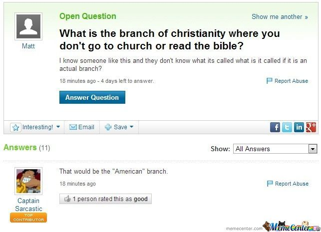 Gotta Love Yahoo! Answers