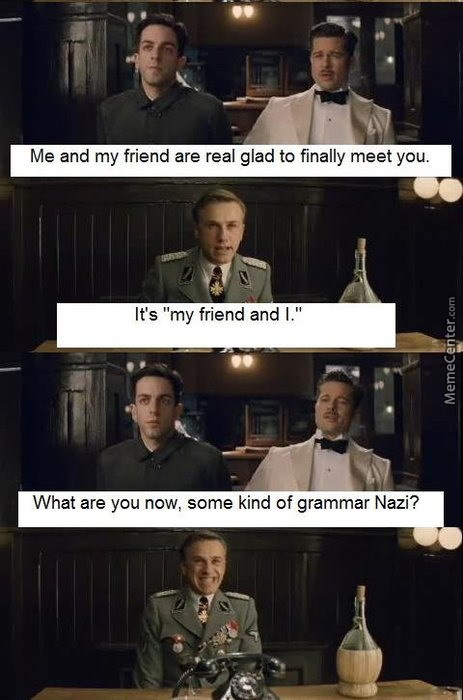 Grammar Nazi: The Beggining