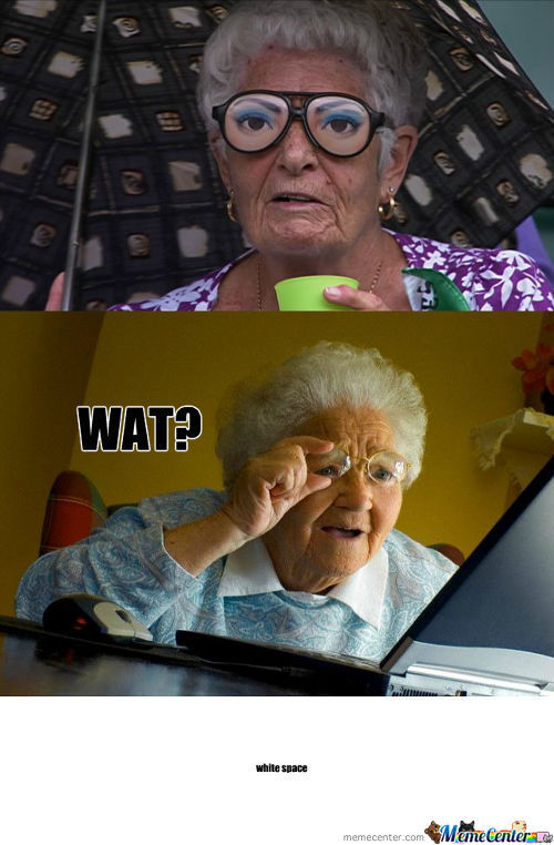 Granny Cant See Good