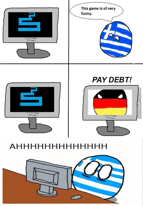 Greece Ball Cannot Into Clear Debts !
