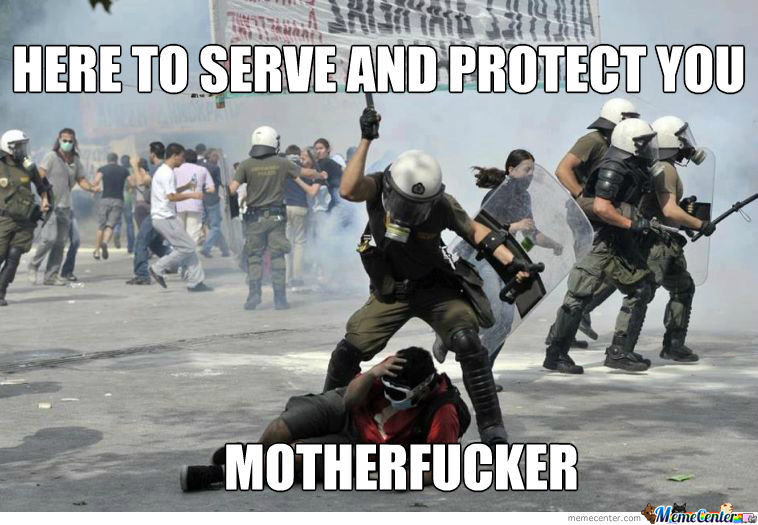 Greek Riot Police Strikes Again