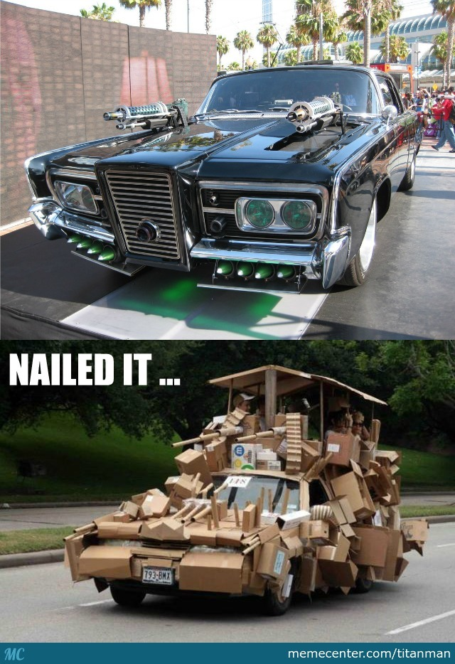 Green Hornet Car-Nailed It