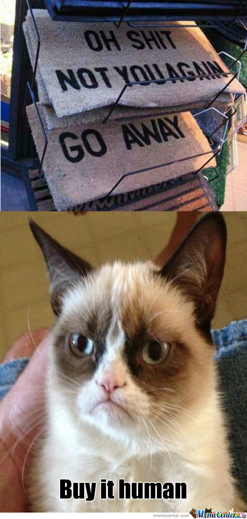 Grumpy Cat's Favorite Door Mat