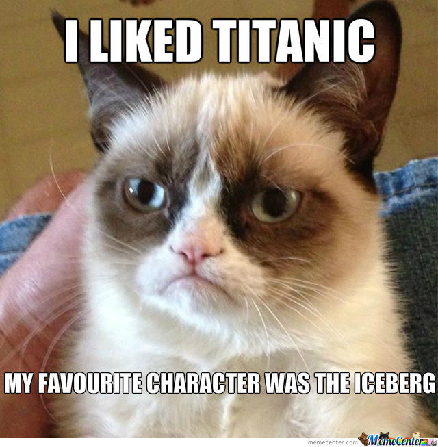 Grumpy Cat And Titanic