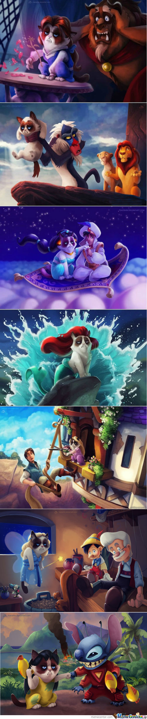 Grumpy Cat Disney Version (Credits To Tsaoshin)