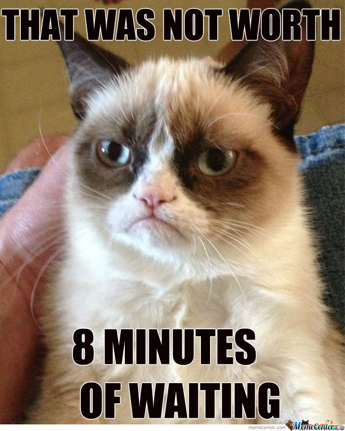 Grumpy Cat Doesn't Like To Wait