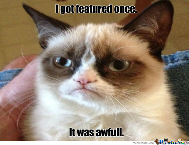 Grumpy Cat Gets Feautured.