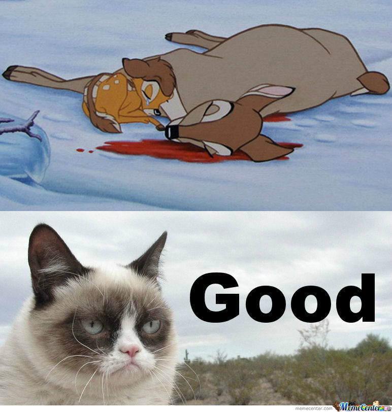 Grumpy Cat Hates Bambi's Mom