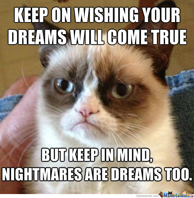 Grumpy Cat Mocks Your Dreams