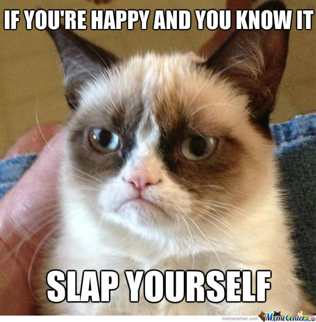 Grumpy Cat's If You're Happy And You Know It