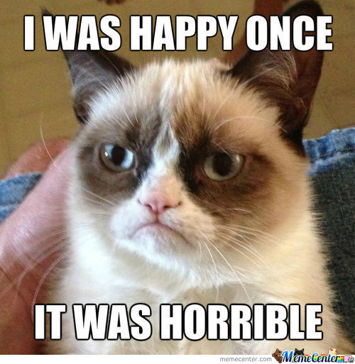 Grumpy Cat's Thoughts On Happiness