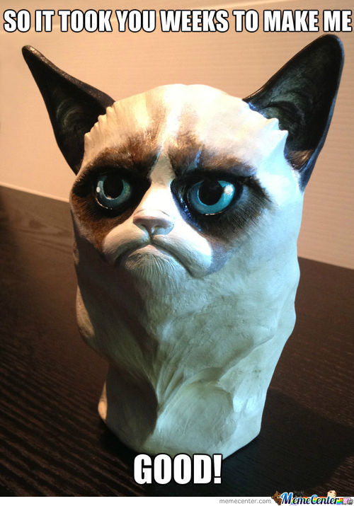 Grumpy Clay Cat