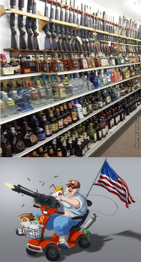 Guns And Booze, The Perfect Combination!