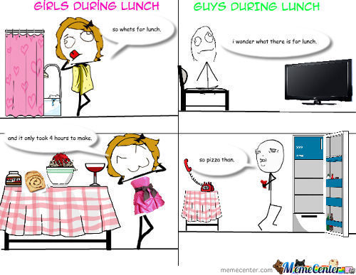Guys Vs Girls Lunch
